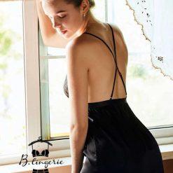 Váy Ngủ Lụa Đen