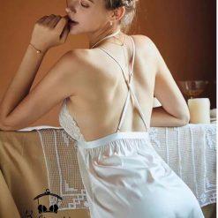 Váy Ngủ Lụa Trắng
