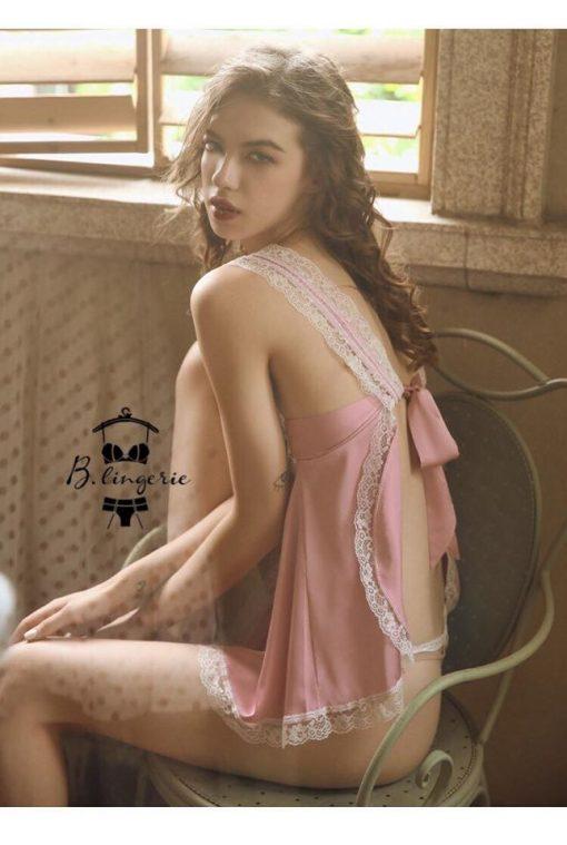 Váy Ngủ Nữ Dễ Thương Hồng