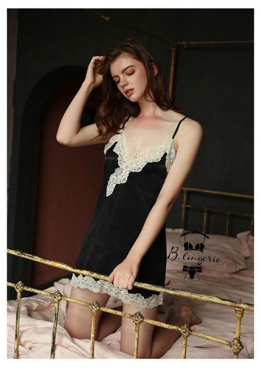 Váy Ngủ Hai Dây Đẹp - D484