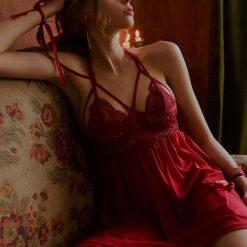 Váy Ngủ Màu Đỏ Quyến Rũ