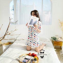 Váy Ngủ Pijama Tim Màu