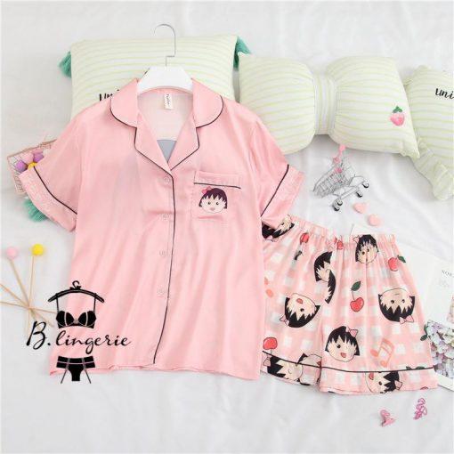 Đồ Bộ Pijama Lửng Đáng Yêu - BO590