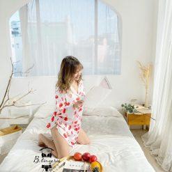 Váy Ngủ Pijama Trái Dâu