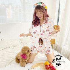 Đồ Ngủ Pijama Nữ Đẹp Hamburger