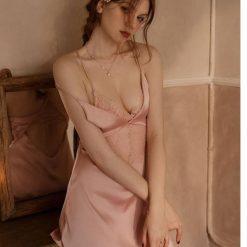 Váy Ngủ Mát Mẻ Quyến Rũ Hồng