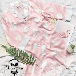 Váy Ngủ Rộng Hồng Trái Tim