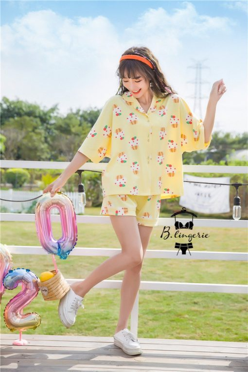 Đồ Ngủ Pijama Nữ Đẹp Cupcake