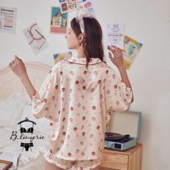 Đồ Pijama Ngắn Trái Dâu