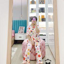 Đồ Ngủ Pijama Phi Lụa Ngắn Tay Blingerie