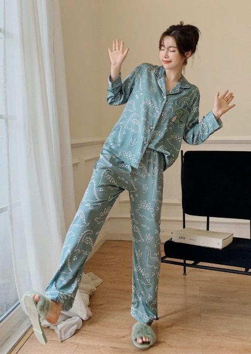 Đồ Bộ Ngủ Pijama Lụa Satin