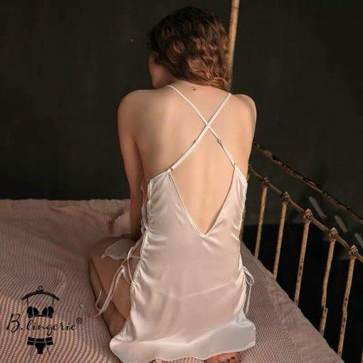 Đầm Ngủ Satin Xinh Xắn - D118