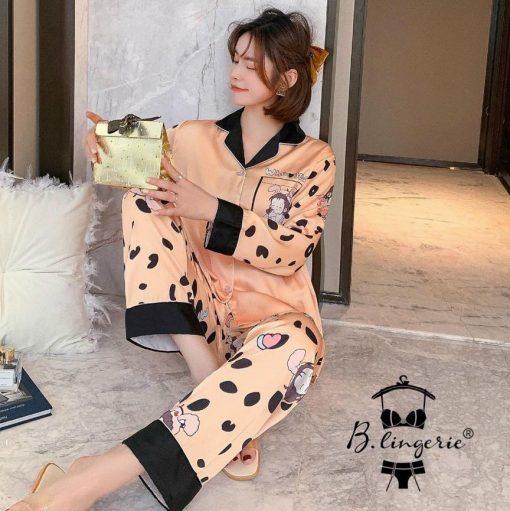 Đồ Ngủ Pyjama Lụa Cao Cấp Blingerie