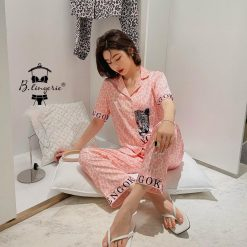 Đồ Ngủ Pyjama Ngắn Da Beo Blingerie