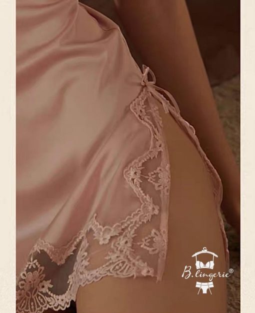 Đầm Ngủ 2 Dây Phi Lụa Blingerie