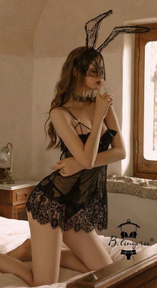 Đầm Ngủ Lưới Xuyên Thấu Blingerie