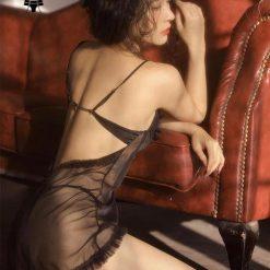 Váy Ngủ Đơn Giản Mỏng Manh Blingerie
