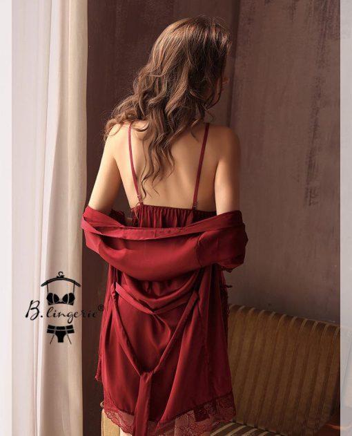 Áo Choàng Ngủ Phi Lụa Blingerie