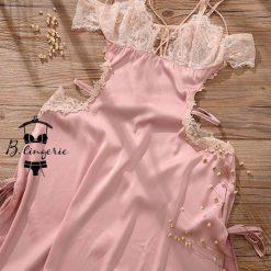Đầm Ngủ Satin Quyến Rũ