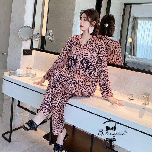 Đồ Bộ Pyjama Nữ Lụa Dài Tay Blingerie