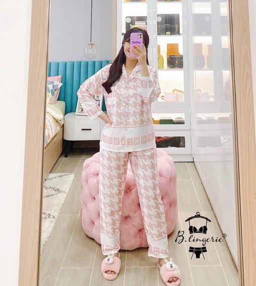 Đồ Ngủ Pyjama Lụa Dài Tay Blingerie