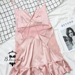 Váy Ngủ Lụa 2 Dây Gợi Cảm Blingerie