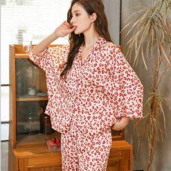 Bộ Pyjama Lụa Dài Tay Blingerie