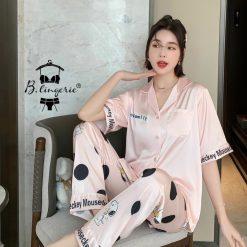 Bộ Pijama Nữ Dài Cún Snoopy