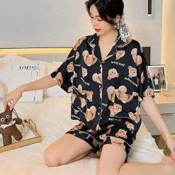 Pijama Nữ Áo Ngắn Quần Ngắn