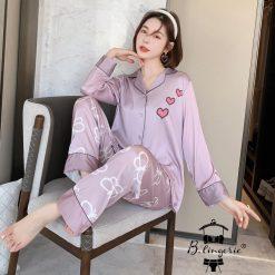 Đồ Bộ Pyjama Lụa Cao Cấp Blingerie