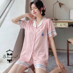 Đồ Bộ Pyjama Nữ Quần Ngắn Tay Ngắn - Blingerie