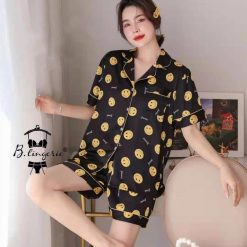Pijama Ngắn Icon Mặt Cười