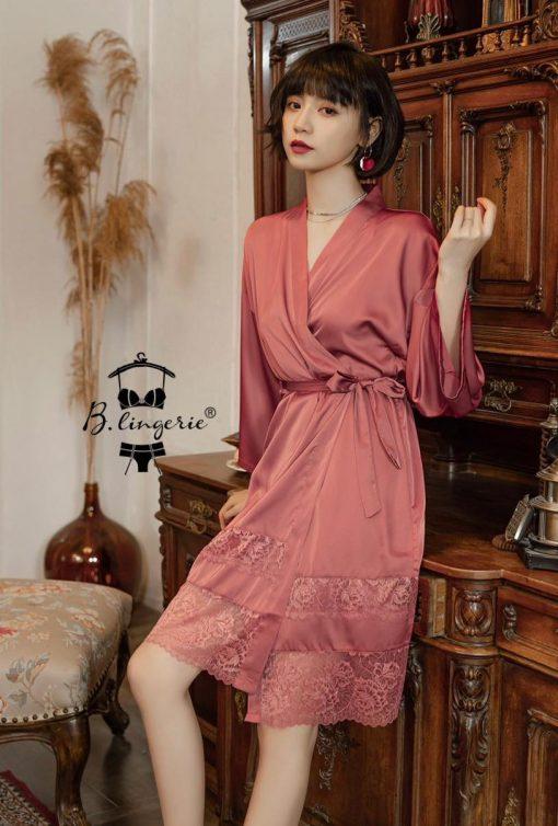 Đầm Ngủ Satin Áo Choàng - Blingerie