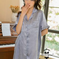 Váy Ngủ Sơ Mi Pyjama Trái Tim - Blingerie