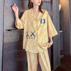 Đồ Ngủ Pyjamas Satin Cute - Blingerie